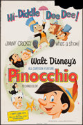"Movie Posters:Animation, Pinocchio (Buena Vista, R-1971). Poster (40"" X 60""). Animation.. ..."
