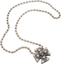 "Movie/TV Memorabilia:Costumes, A Sterling Silver Necklace from ""The Expendables.""..."
