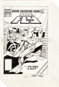 Original Comic Art:Panel Pages, Dick Ayers and Rex Lindsey The Fly #9 Cover and NearComplete Story Original Art (Archie Comics, 1984).... (Total: 14Original Art)