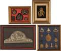 Military & Patriotic:Foreign Wars, Set of Framed British Insignia.... (Total: 4 Items)