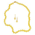 Estate Jewelry:Suites, Dyed Yellow Freshwater Cultured Pearl, Gold Jewelry. ...