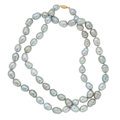 Estate Jewelry:Necklaces, Silver Freshwater Cultured Pearl, Gold Necklace. ...