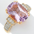 Estate Jewelry:Rings, Amethyst, Diamond, Gold Ring. ...