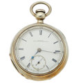 "Timepieces:Pocket (pre 1900) , Illinois ""Miller"" Heavy Coin Silver Key Wind. ..."