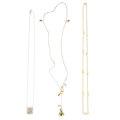 Estate Jewelry:Necklaces, Tourmaline, Diamond, Freshwater Cultured Pearl, Gold, White GoldNecklaces. ... (Total: 3 Items)