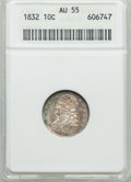 Bust Dimes: , 1832 10C AU55 ANACS. PCGS Population (50/163). NGC Census:(24/196). Mintage: 522,500. Numismedia Wsl. Price for problem fr...