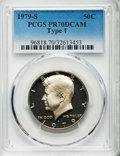 Proof Kennedy Half Dollars, 1979-S 50C Type One PR70 Deep Cameo PCGS. PCGS Population (508). NGC Census: (152). Numismedia Wsl. Price for problem free...
