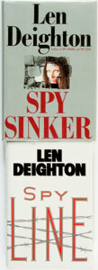 Books:Mystery & Detective Fiction, [Mystery & Thriller]. Len Deighton. Pair of Titles. Variouspublishers and dates.... (Total: 2 Items)