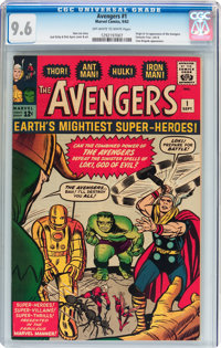 The Avengers #1 (Marvel, 1963) CGC NM+ 9.6 Off-white to white pages