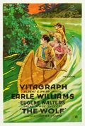 "Movie Posters:Drama, The Wolf (Vitagraph, 1919). One Sheet (28"" X 41.5"").. ..."