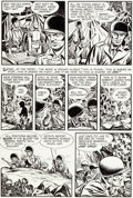 Original Comic Art:Panel Pages, Ray Bailey War Battles #5 Page 26 Original Art (Harvey, 1952)....