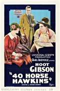 "Movie Posters:Comedy, 40 Horse Hawkins (Universal, 1924). One Sheet (27"" X 41"").. ..."