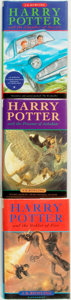 Books:Children's Books, [Featured Lot]. J. K. Rowling. Three First Edition HarryPotter Titles. [London:] Bloomsbury, [1998 - 2000]. . ...(Total: 3 Items)