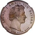 German States:Bavaria, German States: Bavaria. Ludwig I copper Pattern Taler 1835 MS63Brown NGC,...