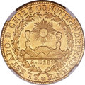 Chile, Chile: Republic gold 8 Escudos 1834 So-IJ AU58 NGC,...