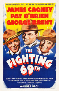 "The Fighting 69th (Warner Brothers, 1940). One Sheet (27"" X 41"")"