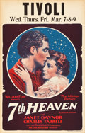 "Movie Posters:Romance, 7th Heaven (Fox, 1927). Window Card (14"" X 22"").. ..."