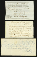Colonial Notes:Continental Congress Issues, Three Early Paper Items.. ... (Total: 3 items)
