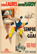 """Movie Posters:Comedy, Nothing but Trouble (MGM, 1945). Italian Foglio (27.5"""" X 39.25"""") ....."""