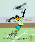 Animation Art:Limited Edition Cel, Chuck Jones Tennis Daffy Limited Edition Cel #68/300 (WarnerBrothers, 1988)....