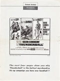 "Movie Posters:James Bond, Thunderball (United Artists, 1965). U.S. and U.K. Pressbook(Multiple Pages, 13.25 "" X 18"", 12"" X 18"").. ... (Total: 2 Items)"