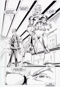 Original Comic Art:Panel Pages, Steve Erwin, Will Blyberg, and Steve Mitchell Deathstroke: The Terminator #21 Page 4 Original Art Splash Page (DC,...