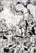 Original Comic Art:Splash Pages, Wayne Vansant and Geof Isherwood The 'Nam #19 Splash Page 4Original Art (Marvel, 1988)....