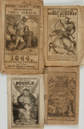 Books:Americana & American History, [Comic Almanacs]. Group of Four Comic Almanacs. Various publishers,[1839 - 1848]. . ... (Total: 4 Items)