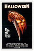 """Movie Posters:Horror, Halloween (Compass International, 1978). One Sheet (27"""" X 41"""") Flat Folded Blue Rating Box Style. Horror.. ..."""