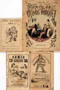 Books:Americana & American History, [Cartoons, Comic Almanacs]. Four Illustrated Humor Publications.Various publishers, [1851 - 1859]. . ... (Total: 4 Items)