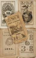 Books:Americana & American History, [Comic Almanacs]. Group of Five Comic Almanacs. Various publishers,[1831 - 1838]. . ... (Total: 5 Items)