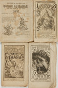 Books:Americana & American History, [Comic Almanacs]. Four Issues of Fisher's Comic Almanac.Various publishers, [1847 - 1866]. . ... (Total: 4 Items)