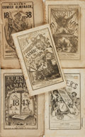 Books:Americana & American History, [Comic Almanacs]. Five Issues of Turner's Comic Almanac.Philadelphia: Turner & Fisher, [1837 - 1848]. . ... (Total: 5Items)