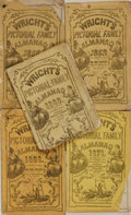 Books:Americana & American History, [Almanacs]. Five Issues of Wright's Pictorial Almanac.Various publishers, [1855 - 1870]. . ... (Total: 5 Items)