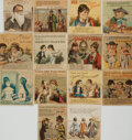 Miscellaneous:Trading Cards, [Advertising, Trading Cards]. Collection of Fourteen Folding TradeCards. Various publishers, circa 1880. . ...