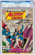 Silver Age (1956-1969):Superhero, Action Comics #252 (DC, 1959) CGC FN- 5.5 Cream to off-whitepages....