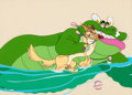 Animation Art:Production Cel, All Dogs Go to Heaven Charlie and King Gator Production Cel(Amblin/Bluth, 1989)....