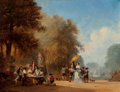 Fine Art - Painting, European:Antique  (Pre 1900), Hendrik Frans Schaefels (Belgian, 1827-1904). Fête galante.Oil on canvas. 25 x 23-1/2 inches (63.5 x 59.7 cm). Signed, ...