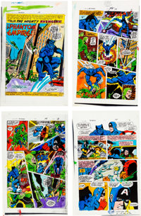 "The Avengers #141 ""The Phantom Empire!"" Complete Story Hand-Colored Proof Page Group (Marvel, 1975).... (Total..."
