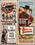 """Movie Posters:Western, Day of the Badman & Other Lot (Universal International, 1958). Inserts (2) (14"""" X 36""""). Western.. ... (Total: 2 Items)"""