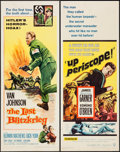"""Movie Posters:War, Up Periscope & Other Lot (Warner Brothers, 1959). Inserts (2)(14"""" X 36""""). War.. ... (Total: 2 Items)"""