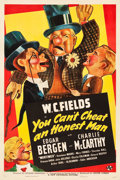 "Movie Posters:Comedy, You Can't Cheat an Honest Man (Universal, 1939). One Sheet (27.25"" X 41"") Style A.. ..."