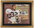 Football Collectibles:Photos, Jim Brown Signed Lithograph....
