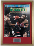 Boxing Collectibles:Autographs, Mike Tyson Signed Oversized Print....
