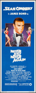 """Movie Posters:James Bond, Never Say Never Again (Warner Brothers, 1983). Insert (14"""" X 36""""). James Bond.. ..."""