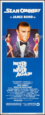 "Never Say Never Again (Warner Brothers, 1983). Insert (14"" X 36""). James Bond"