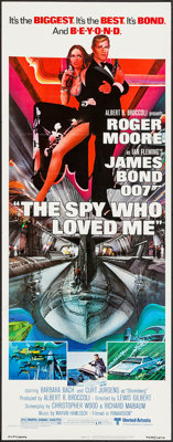 """The Spy Who Loved Me (United Artists, 1977). Insert (14"""" X 36""""). James Bond"""