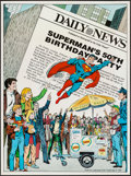 """Movie Posters:Action, Superman's 50th Birthday Party (New York Daily News, 1988). 50th Anniversary Poster (17"""" X 22.75""""). Action.. ..."""
