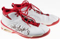 Basketball Collectibles:Others, Dickey Simpkins Game Worn, Signed Shoes....