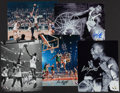 Basketball Collectibles:Photos, Bill Russell Signed Photographs Lot of 5....